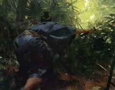 Samurai by Jaime Environment Painting, Environment Concept Art, Jaime Jones, Craig Mullins, Samurai, Matte Painting, Environmental Art, Fantasy Characters, Painting Inspiration