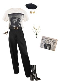 """""""Gina"""" by yvessaintmoss ❤ liked on Polyvore featuring Element, Haider Ackermann and A.P.C."""