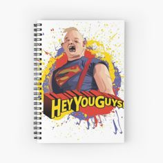 'Hey You Guys - Sloth' Spiral Notebook by CavemanMedia Notebooks, Journals, Graffiti Characters, Hey You, Journal Notebook, Sloth, Spiral, My Arts, Art Prints