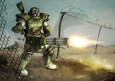 Commission for ManyRegretsz [part I must say I have definitely learned a lot while working on this! (Yeah I know it's not Fallout 3 but I'm sti. Fallout Art, Fallout New Vegas, Fallout Weapons, Fallout Funny, Fallout Wallpaper, Nuclear Winter, Vault Tec, Far Future, Future Soldier
