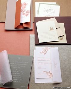 Eco-Friendly Invitations and Stationery - Martha Stewart Weddings Planning & Tools
