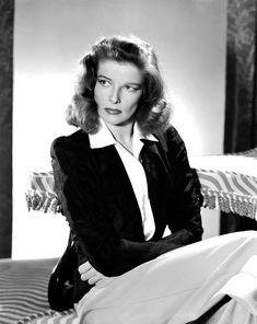 "sparklejamesysparkle: "" Katharine Hepburn by Clarence Sinclair Bull, early-1940s. """