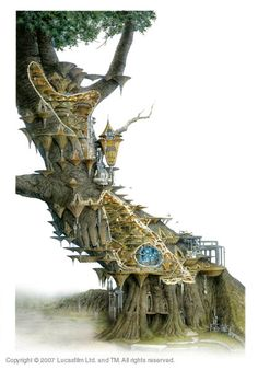 Star Wars architecture: Wookiee Tree, Kashyyyk