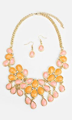 Juniper Statement Necklace in Sunrise