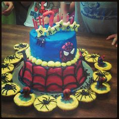 Spiderman cake Spiderman 4, Spiderman Birthday Cake, Boy Birthday, Birthday Ideas, Birthday Parties, Grandkids, Birthdays, Cakes, Party