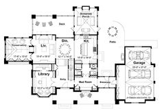 Floor Plans AFLFPW17192 - 2 Story Neoclassical Home with 3 Bedrooms, 2 Bathrooms and 3,524 total Square Feet