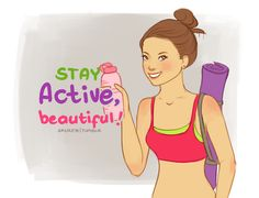 Stay Active Beautiful ! #workout #fitness #healthy