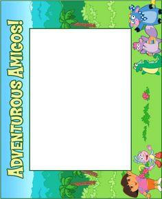 Dora The Explorer Photo frame craft - Dora the Explorer Crafts, puzzles and activities