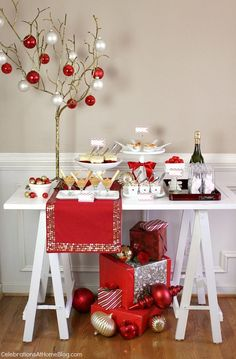 Holiday entertaining - Christmas cocktails and appetizer party.