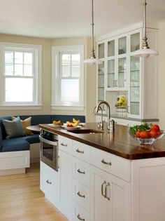Brown Quartz Countertop With White Cabinetry