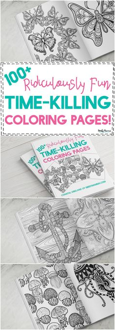 OMG! You've GOT to check out this adult coloring book! The pictures are BEAUTIFUL and there's over 100 adult coloring pages here!!