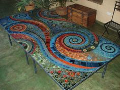 Mosaic Artwork, Mosaic Wall Art, Mirror Mosaic, Tile Art, Mosaic Tile Table, Mosaic Tray, Mosaic Table Tops, Mosaic Crafts, Mosaic Projects