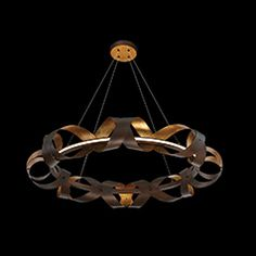 A three-tier led chandelier from the Banderia collection
