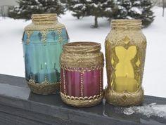 Lanterna Marroquina com Vidros Variados