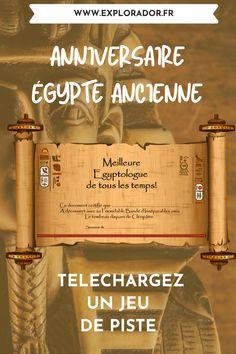 Jeu de groupe sur l'Egypte ancienne: téléchargez un jeu de piste à la recherche du tombeau de Cléopâtre. Chasse au trésor à télécharger au temps des pharaons. Games, Drinks, Scouts, Group Games, Dance Floors, Drinking, Beverages, Gaming, Drink