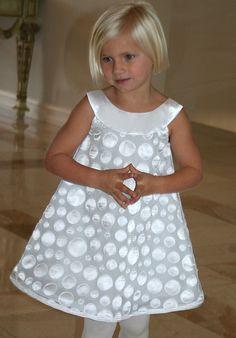 Isabel Garretón Grey Dots Flower Girl Dress - The Knot