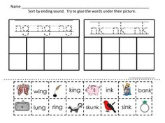 A great mix of activities to teach mastery of these two ending blends: ng and nk. Cut and Paste Pages, Paper Pencil Pages, LIttle Readers, Sorting Center to laminate and use as a center.