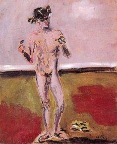 mrsramseysshawl:  Filippo de Pisis (Italian, 1896-1956), Mercurio, 1931. Oil on cardboard.