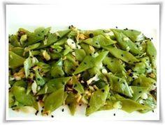 Scharfer Stangenbohnensalat