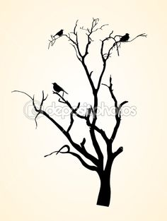 Tree+Silhouette | Vector Tree Silhouettes | Stock Vector © baavli #8475806