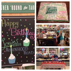 HAPPY BIRTHDAY ROBINHOOD LOWES FOODS!!! (That cake was GIGANTIC!! Good job, Cakery!)