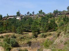 Lalibela, het dorp.