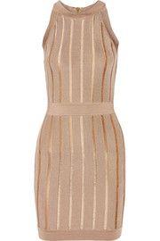 Mini-robe en mailles stretch côtelées