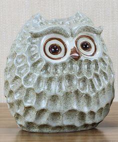 White Ceramic Owl Figurine. I NEED this! How cute is he?