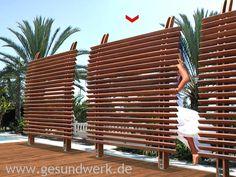 Bild von Joda Jalousiezaun Eucalyptus FSC-100 Dubai prestige 180cm x 180cm