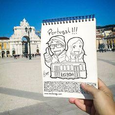 Cadê as sardinhas e os pastéis de bacalhau? www.danilonaga.com #lisboa #portugal #euro #trip #illustravel #duasmalaspelomundo #pracadocomercio #lisbon #illustration #ilustração #viagem #vacations #sketchbook #arte #art #desenho #drawing #lineart #pendrawing #pencil #pensketch #penart #drawingbook #draw