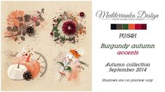 Burgundy autumn (Accents) by Mediterranka Design
