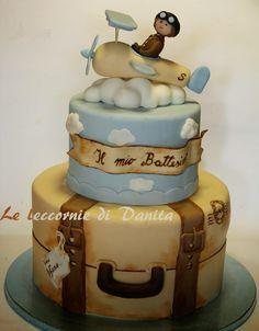 Le leccornie di Danita: Torta battesimo....tra le nuvole!!