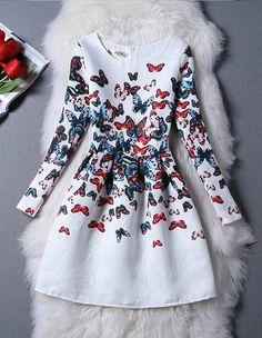 Vintage Inspired Long sleeve Dress