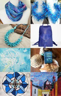 Blue Blue by Anna Wyrzykowska on Etsy--Pinned with TreasuryPin.com