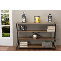 Shop for Baxton Studio Lancashire Rustic Industrial Vintage Look Wood and Metal Console Table. Get free shipping at Overstock.com - Your Online Furniture Outlet Store! Get 5% in rewards with Club O!