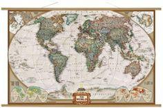 Świat. Mapa ścienna polityczna Executive 1:38,9 mln wyd. National Geographic
