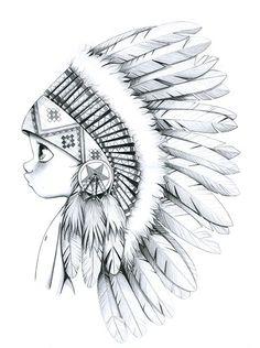 """Résultat de recherche d'images pour """"femme amerindienne dessin"""""""