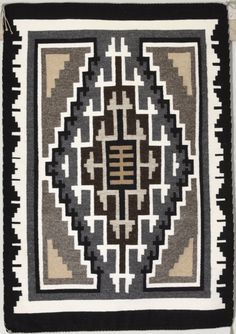 Two Grey Hills Rug by Phyllis James (Navajo)