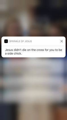 """shit like this is why I deleted sprinkle of Jesus  I believe these ones are posted by mistake sometimes because people can submit their own quotes into the app and they pick whichever ones are most popular even though it may not have shit to do with Jesus  another one said """"condoms don't protect you from spiritually transmitted demons"""" there was another outta pocket one too and I was just like..y'all wildn' lmao"""