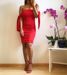 Rotes Kleid #outfit #mode #fashion #top #handmade #summer #premium #pink #red #ladyinred