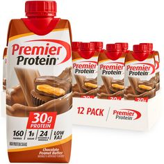 Peanut Butter Brands, Peanut Butter Protein, Chocolate Peanuts, Chocolate Peanut Butter, Premier Protein Shakes, 30 Grams Of Protein, Yummy Smoothies, Banana Cream, Afternoon Snacks