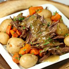 The Best Crock pot Roast Recipe that you can make without seasoning packets. Try this easy slow cooker pot roast with veggies that taste amazing!