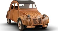 Famed French cabinetmaker Michel Robillard took six years to complete this stunning Citroen wooden sculpture. Wooden Car, Hood Ornaments, Retro Cars, Car Show, Concept Cars, 6 Years, Automobile, Bike, Sculpture