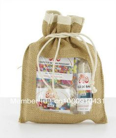 """SIZE: 6""""X8""""(15.2X20.3CM),FREE SHIPPING,JUTE POUCH BAG,JUTE GIFT BAG WITH PVC WINDOW,CUSTOMIZED LOGO AND BAG ACEPTABLE $119.00"""