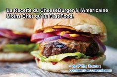 Découvrez la vraie recette du cheeseburger à l'Américaine, facile à faire et bien plus savoureuse que celle des Fast-Food.  Découvrez l'astuce ici : http://www.comment-economiser.fr/recette-de-burger-maison.html?utm_content=bufferd84e1&utm_medium=social&utm_source=pinterest.com&utm_campaign=buffer