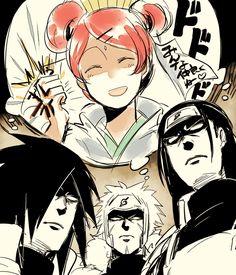 Naruto Shippuden | Mito Uzumaki | Hashirama Senju | Tobirama Senju | Madara Uchiha | Scary Woman | Art by: @neuu_N (Twitter)