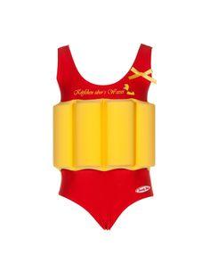 """Maiô com bóia embutida """" Yellow Duck"""" tamanhos de 18 meses a 5 anos"""