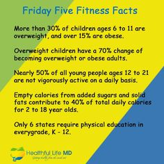 Friday Five Fitness Facts!  Here are some health and fitness tips that you might not know. #fridayfacts #fitnessfacts #fridayfitnessfacts #healthfullifemd