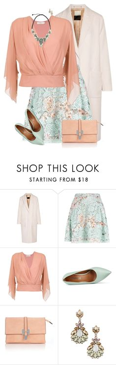 """""""Pastel Skirt and Blouse"""" by daiscat ❤ liked on Polyvore featuring By Malene Birger, MSGM, Giuliana Romanno, Cosmopolitan, Wallis and BP."""