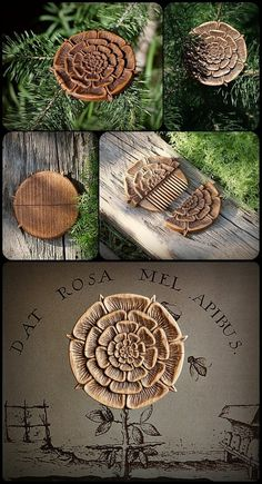 Hair Comb Dat Rosa Mel Apibus by pagan-art